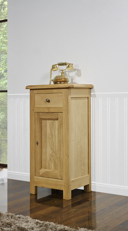 Meuble en chne meuble tlphone yann ralis en chne massif de - Meuble style campagnard ...