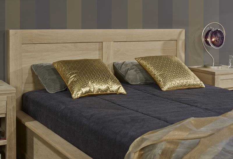 meuble en chne lit collection nature 140 190 ralis en chne. Black Bedroom Furniture Sets. Home Design Ideas