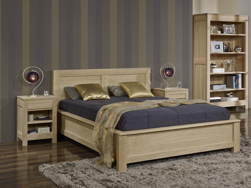 meuble en chne lit collection nature 160 200 ralis en chne. Black Bedroom Furniture Sets. Home Design Ideas