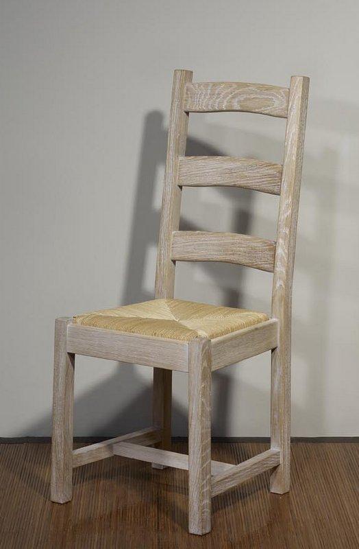Meuble en chne chaise renaud ralise en chne massif de - Bureau chene blanchi ...