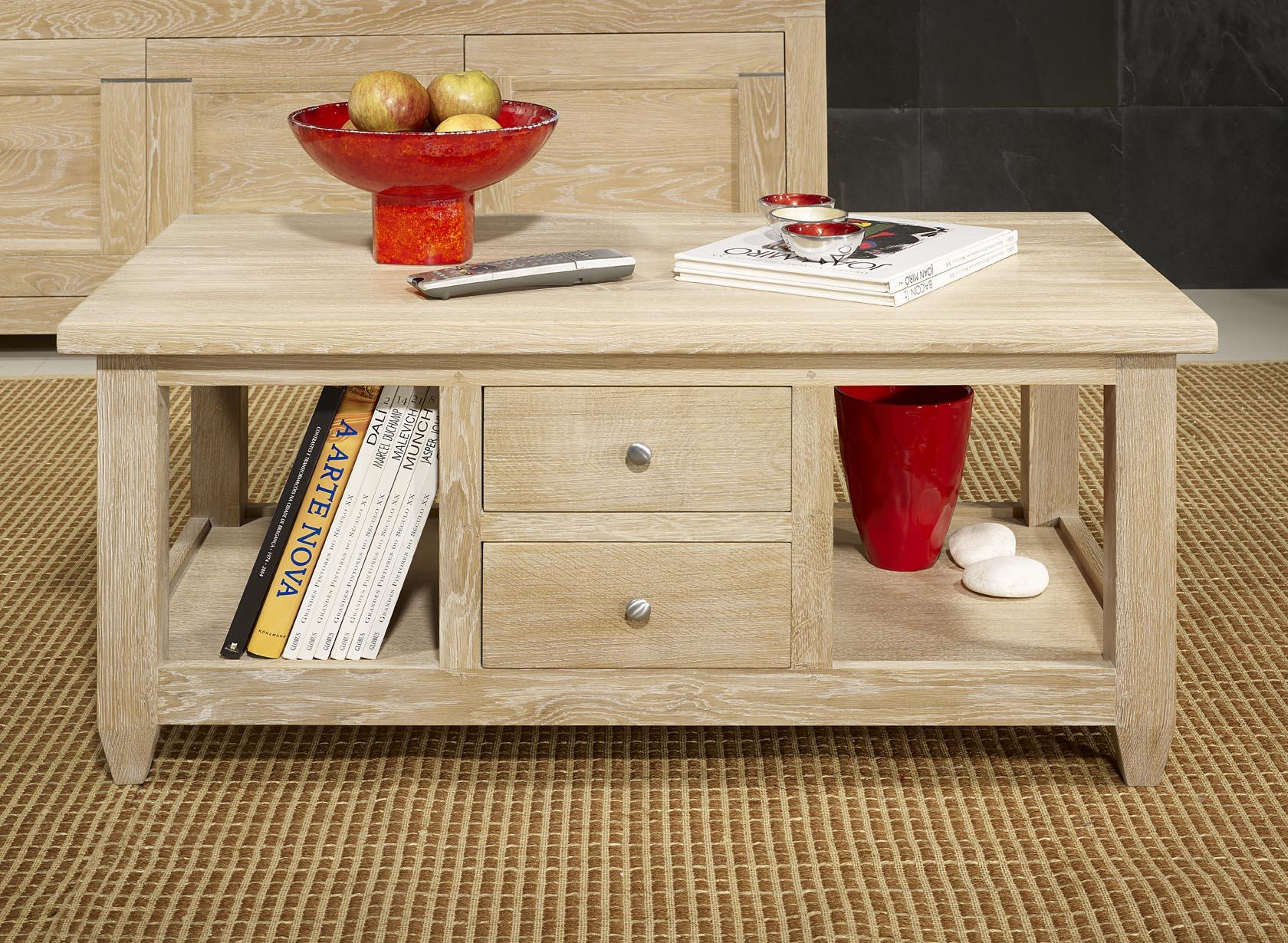 meuble en ch ne table basse thomas r alis e en ch ne massif de style campagnard finition ch ne. Black Bedroom Furniture Sets. Home Design Ideas